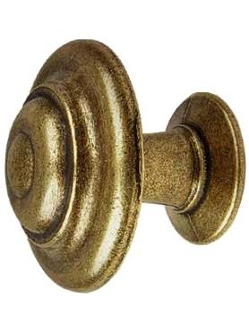 Knopp knubbig 2 storlekar ringar antik mässingfärgad metall shabby chic lantlig stil
