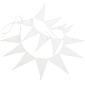 Vimplar vita Nyblom & Kollen lantlig stil shabby chic