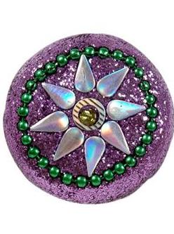 Lila knopp glitter glamour shabby chic lantlig stil