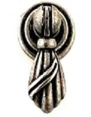 Knopphänge litet antik-silver färgad shabby chic lantlig stil
