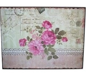 Påtskylt vintage rosor shabby chic lantlig stil