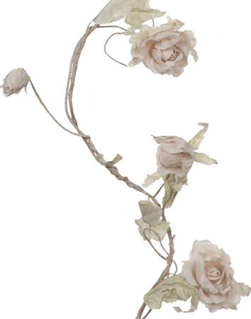Girlang vita rosor blomslinga rosslinga shabby chic lantlig stil