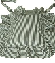 Marinblå randigt stolsfodral