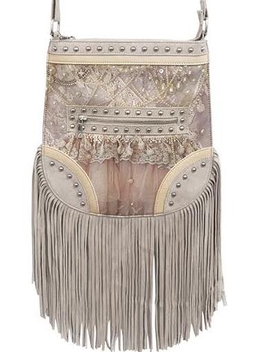 Bag Vintage Pearls & Tassels Rachel van Asch shabby chic lantlig stil