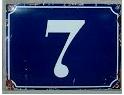 Fasadsiffror i emalj 0-9