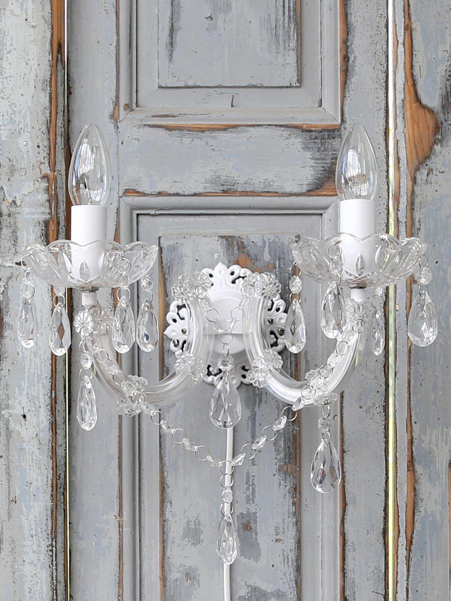 Www.gardsromantik.se   chandelier vägglampa ljuskrona fransk ...