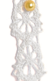 Lace white - House doctor 10mm