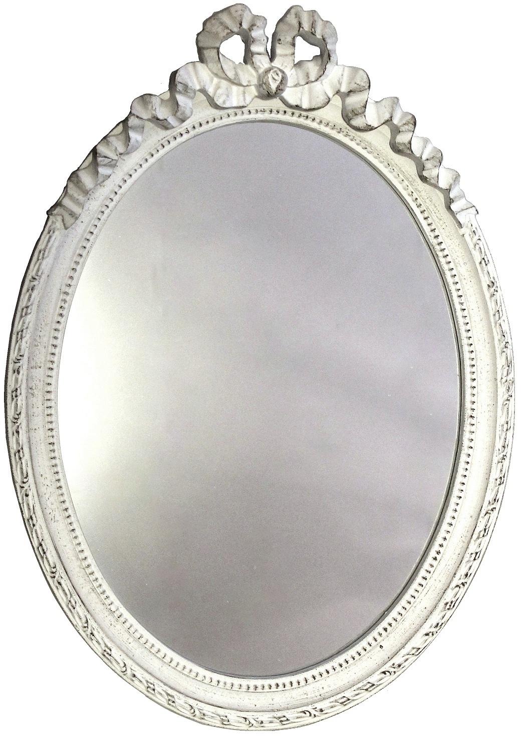 oval spegel vit