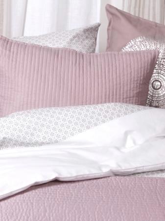 Kuddfodral rosa quilt shabby chic lantlig stil