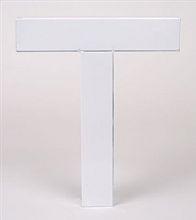 Bokstav blank vit plåt A-Z
