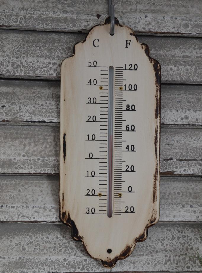 termometer antik vitt shabby chic lantlig stil. Black Bedroom Furniture Sets. Home Design Ideas