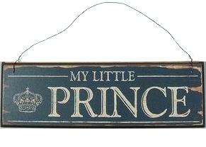My little Prince skylt i trä shabby chic, lantlig stil