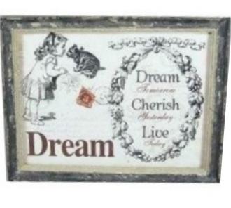 Dream trätavla shabby chic lantlig stil