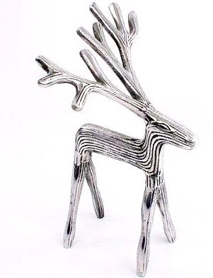 Ren hjort silverfärgad liten reindeer