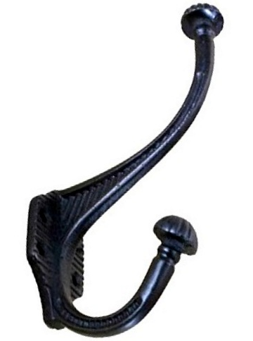 Dubbel stor krok svart smide shabby chic lantlig stil