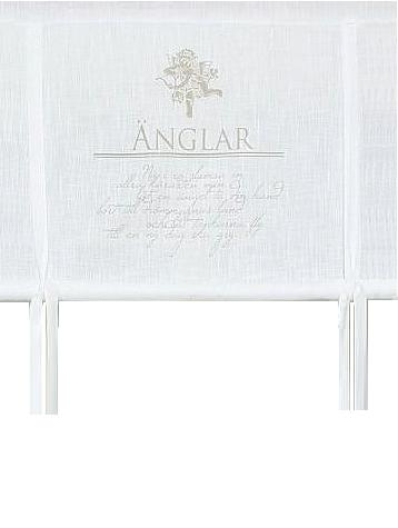Hissgardin vit Skyddsängel ängel shabby chic lantlig stil