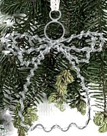 Ängel i zink med pärlor luffarslöjd 2 storlekar