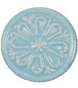 Porslinsknopp Turkos blå