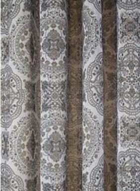 Öljettlängder gardiner öljett brun orient shabby chic lantlig stil