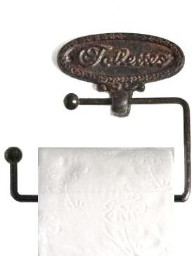 Toalettpappershållare gjutjärn shabby chic lantlig stil
