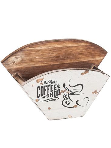 kaffefilterhållare antik stil trä shabby chic lantlig stil
