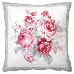 Kuddfodral  Coco greengate rosa rosor shabby chic lantlig stil