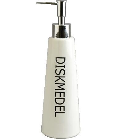 Diskmedelspump - Diskmedel i vitt porslin shabby chic lantlig stil
