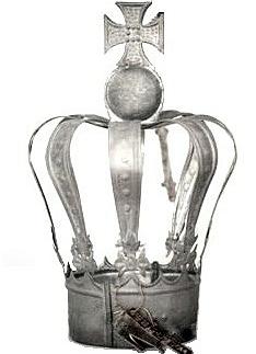 Krona kungakrona prinsesskrona zink Walther & Co 2:a sortering shabby chic lantlig stil