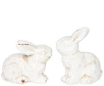 Kanin liten vit sittande shabby chic lantlig stil
