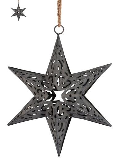 Stjärna hängande i zink plåt shabby chic lantlig stil