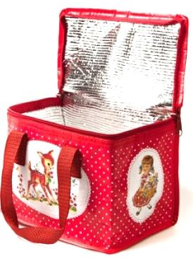Väska lunchväska Rådjur shabby chic lantlig stil