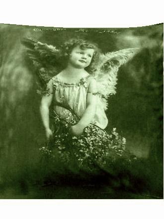 Kuddfodral Vintage motiv Ängel shabby chic lantlig stil