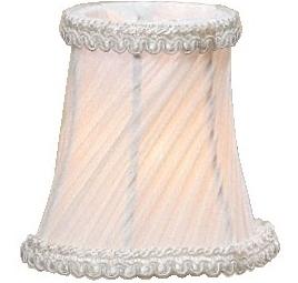 Lampettskärm lampskärm liten vit gammeldags plizzerad vägglampa lampett kristallkrona