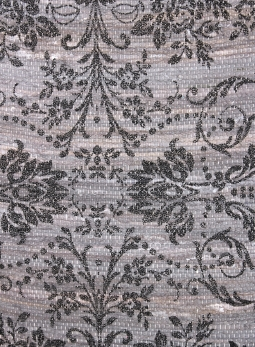 Trasmatta grå svart tryck shabby chic lantlig stil
