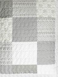 Överkast quilt pläd linne-beige vit shabby chic lantlig stil