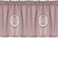 Gardin kappa rosa dimrosa broderi monogram shabby chic lantlig stil