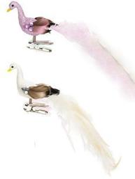 Påfågel fågel klämma shabby chic lantlig stil 2 färger