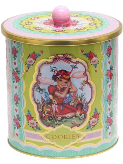Kakburk burk retro rådjur söta barn rosa turkos shabby chic lantlig stil