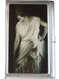 Kortförvaring metallbox vintage dam shabby chic lantlig stil