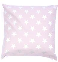 Kuddfodral dimrosa rosa silver stars shabby chic lantlig stil