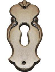 Nyckelskylt nyckelhål antik stil mässing-färgad shabby chic lantlig stil