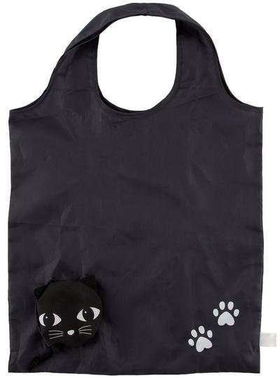 Shopping bag Svarta Katt vikbar lättvikt