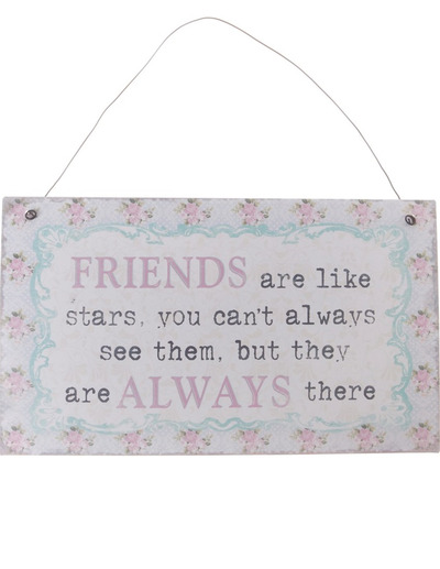 Skylt Friends are like stars shabby chic lantlig stil