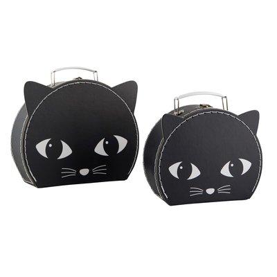 2 set väska Svarta Katt resväska shabby chic lantlig stil