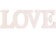 Bokstäver LOVE shabby chic lantlig stil