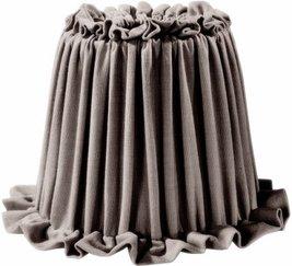 Lampskärm Ida grå veckad shabby chic lantlig stil