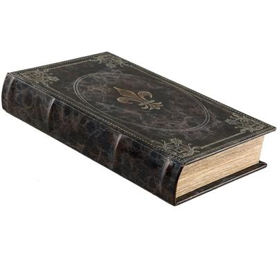Boklåda antik stil bok Franska Liljan monogram shabby chic lantlig stil