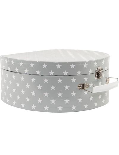 Picknick väska barnservis grå New England stars  plåt shabby chic lantlig stil