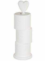 Toapappershållare toalettpappersförvaring vit trä för golv shabby chic lantlig stil