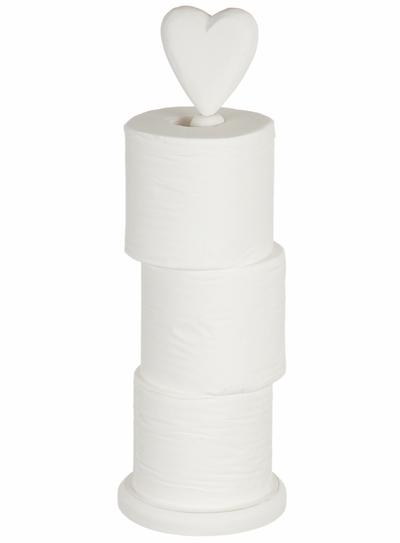 www gardsromantik se Toapappershållare toalettpappersförvaring vit trä för golv shabby chic